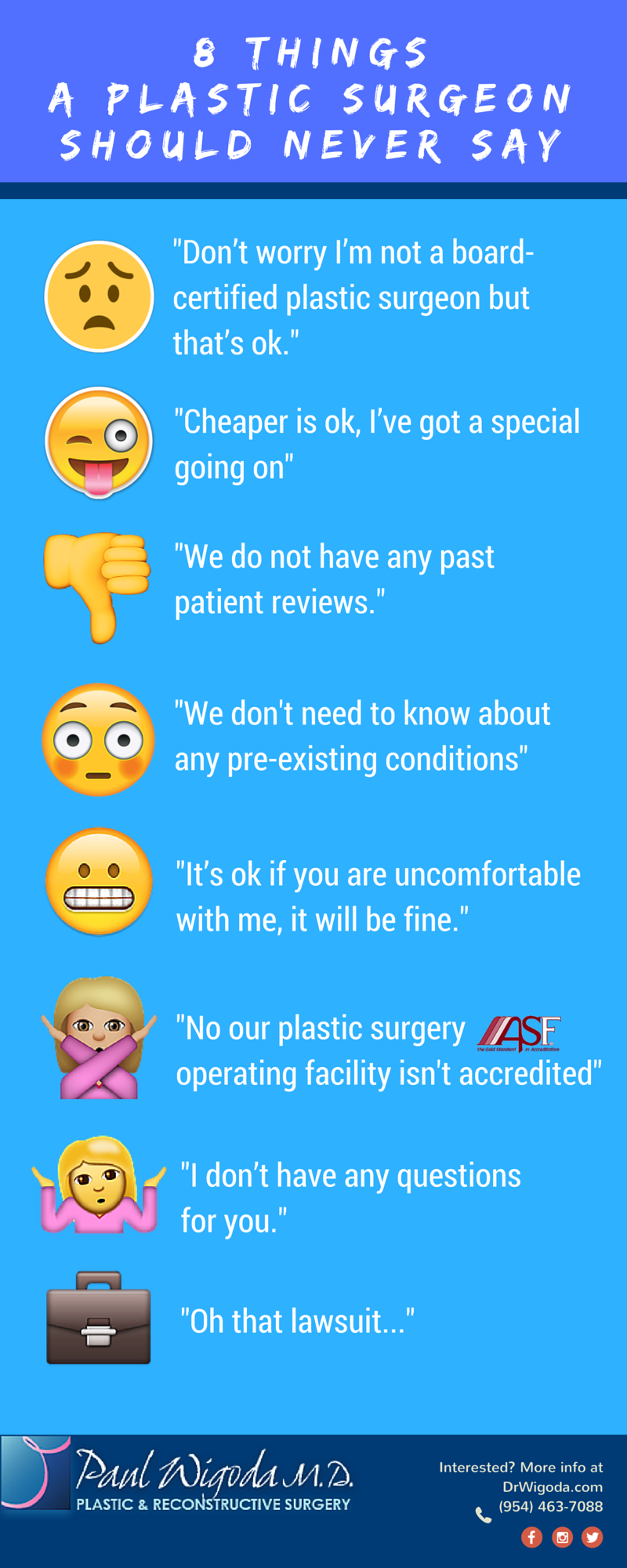 8 Things Your Plastic Surgeon Should Never Say To You